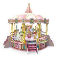 Puzzle 3D Merry Go Round, 31 x 21 x 25 cm, lumini si muzica