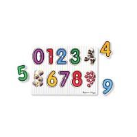 Puzzle lemn cifrele