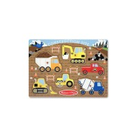 Puzzle lemn santierul de constructii