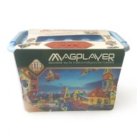 Puzzle magnetic Magplayer, 118 piese, 3 ani+