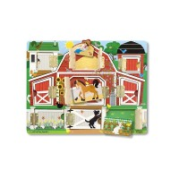 Puzzle magnetic ascunde si descopera, 31 x 23 cm, 9 piese