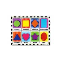 Puzzle relief Forme geometrice, 23 x 30 cm, 3 ani+