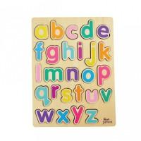 Puzzle  Jumini, lemn, 30 x 22 cm, 26 piese, 3 ani+, model alfabet