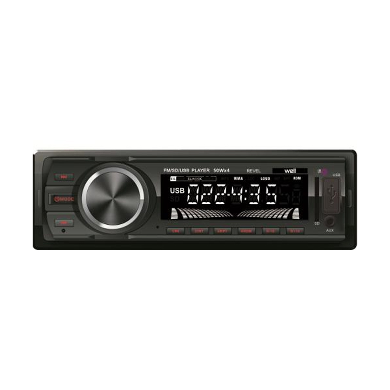 Radio auto Well, slot USB/SD, LCD, 4 x 50 W