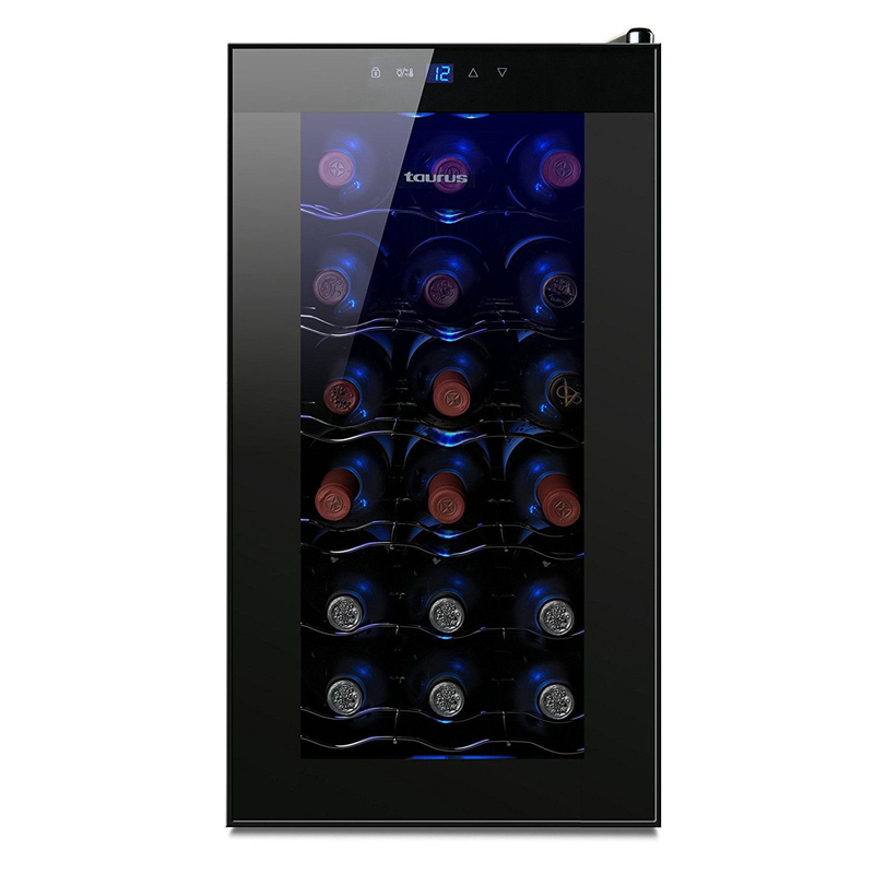 Racitor de vin termoelectric Taurus, 65 W, capacitate 18 sticle, 5 rafturi
