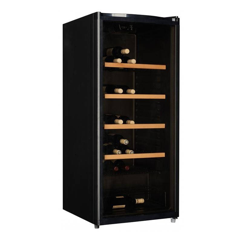 Racitor de vin Studio Casa, 214 l, 89 sticle, iluminat interior, usa reversibila, Negru 2021 shopu.ro
