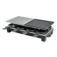 Racleta tip grill Rommelsbacher, LED, 8 tavite, termostat, invelis Xylan