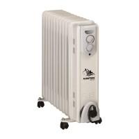 Radiator electric Albatros, 11 elementi, 2500 W, 3 trepte putere, termostat reglabil, Alb