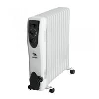 Radiator electric Albatros, 13 elementi, 3000 W, 3 trepte putere, termostat reglabil, Alb