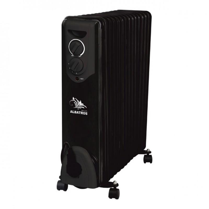 Radiator electric Albatros, 3000 W, 13 elementi, 3 trepte putere, termostat reglabil