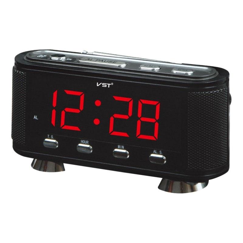 Radio FM cu ceas VST 741, alarma, afisaj LED 2021 shopu.ro