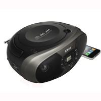 Radio CD/MP3 Akai, 2 x 1 W, Radio FM, USB, afisaj LED, memorie programabila