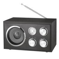 Radio Fm analogic din lemn Azusa, 5 W, Negru