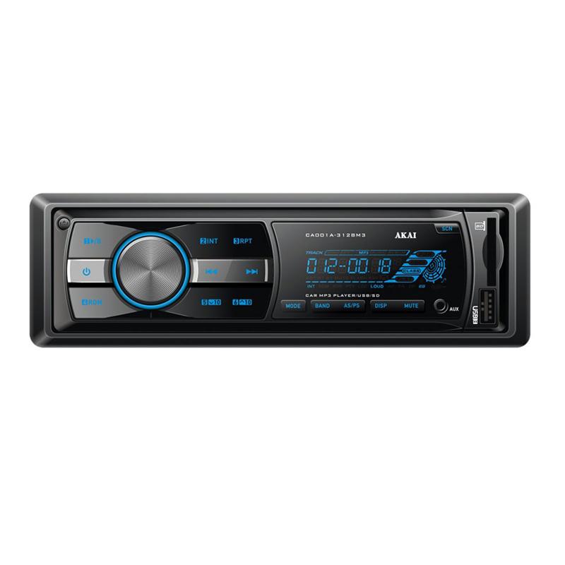 Radio auto Akai, 4 x 20 W, USB, AUX, 2 x RCA, ecran LCD, ceas, 18 memorii, egalizator 2021 shopu.ro