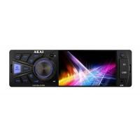 Radio auto Akai, 4 x 25 W, 1 x DIN, Bluetooth, USB, slot card SD/MMC, Aux in, egalizator, display TFT 4 inch, telecomanda