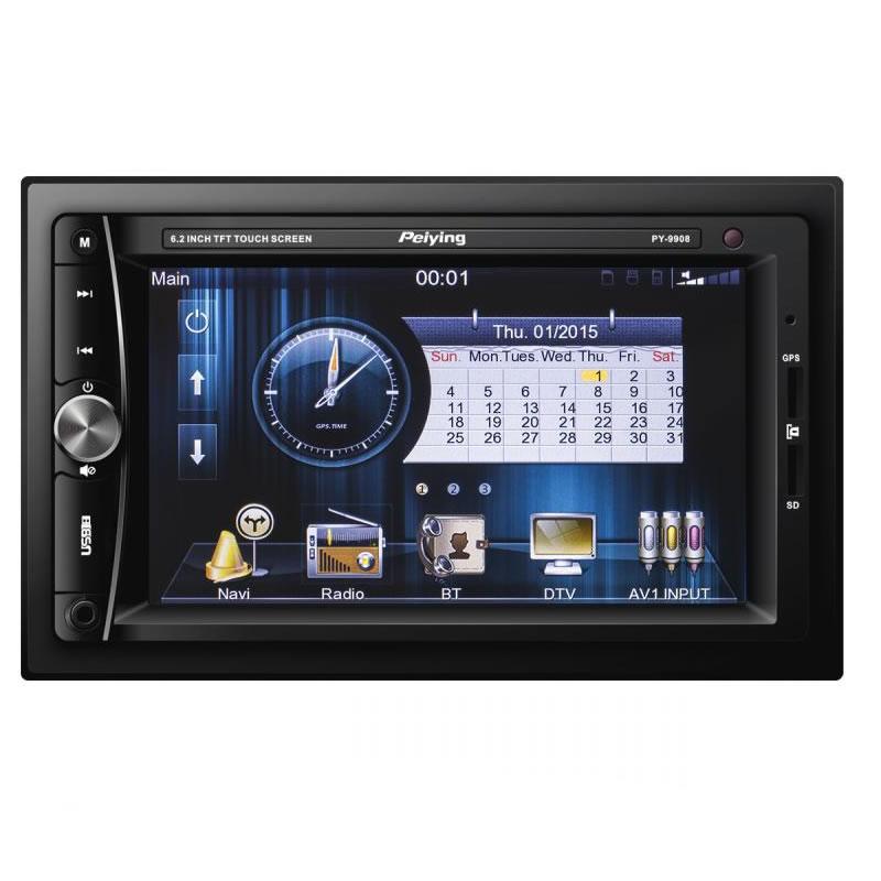 Radio auto Peiying PY9908.1, ecran TFT 6.2 inch, bluetooth, GPS, tuner ESP 2021 shopu.ro