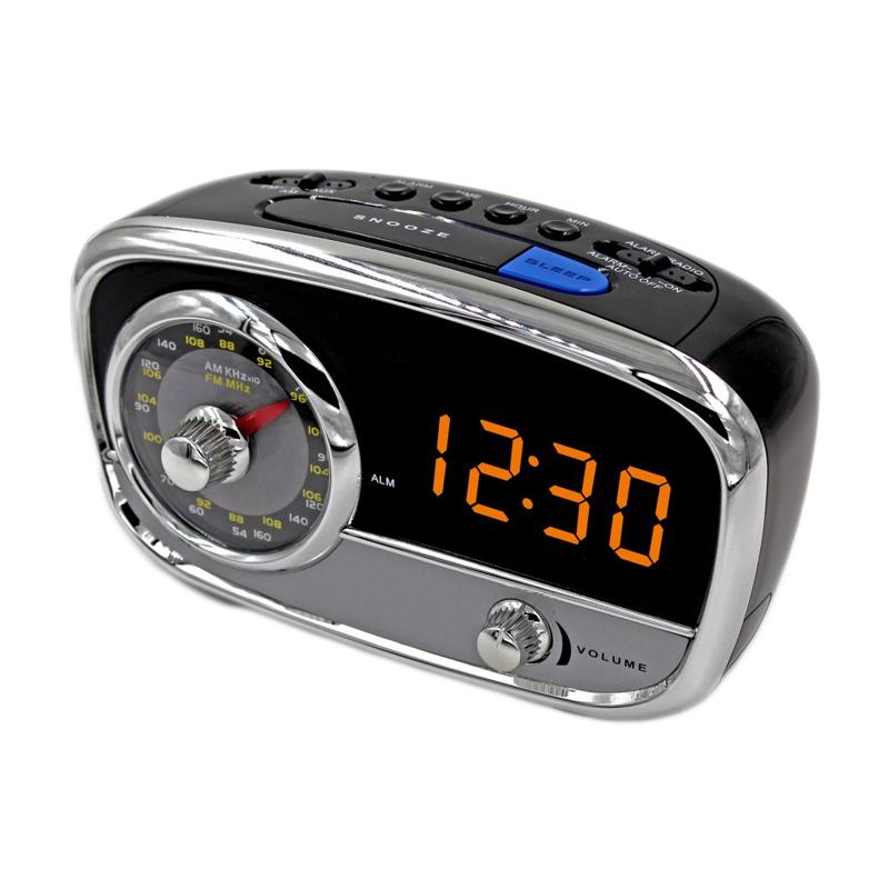 Radio cu ceas Akai, AM/FM, ecran LED, Sleep Timer, afisaj LED, functie Line-In, Negru 2021 shopu.ro