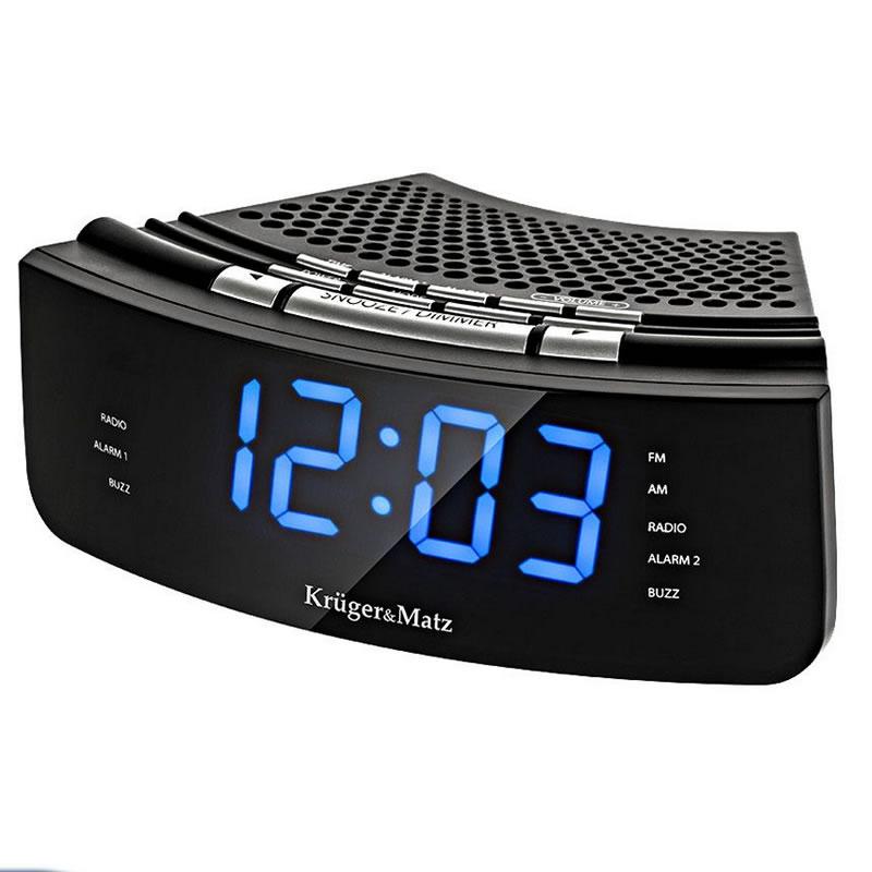 Radio cu ceas dual alarm Kruger Matz KM 0813, display LCD 2021 shopu.ro