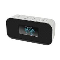 Radio cu ceas si alarma Kruger Matz KM 1150, bluetooth, carcasa aluminiu