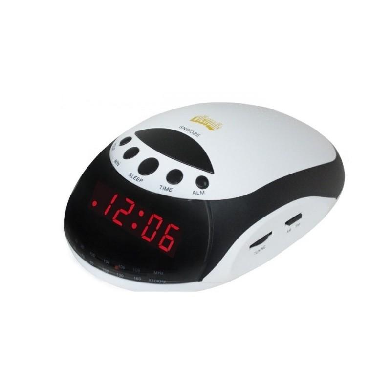 Radio cu ceas si alarma VC1235, afisaj rosu, functie snooze