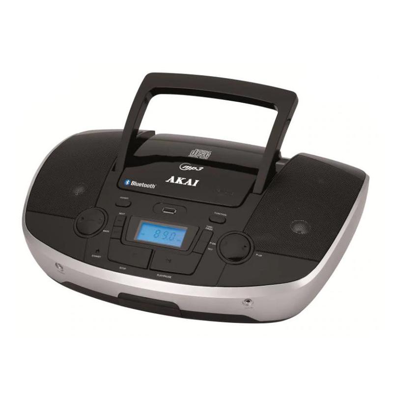 Radio portabil Bluetooth Akai, 6 W, player MP3, jack Aux-In, display LED, Negru 2021 shopu.ro