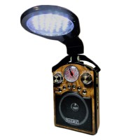 Radio portabil cu lanterna Waxiba, suport card SD/USB