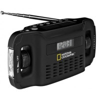 Radio solar plus incarcator National Geographic, port USB, lanterna