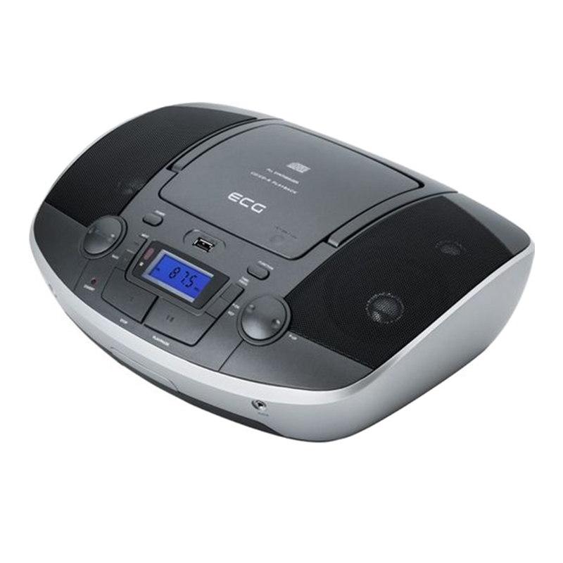 Radio CD Player Ecg Titan, 8 x baterii tip C, aux 3.5 mm, USB, CD, CD-Mp3, FM, 30 posturi 2021 shopu.ro