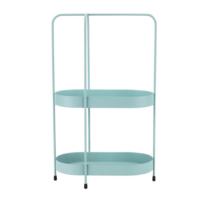 Raft pentru baie, 11 x 21 x 34 cm, fier, Turcoaz 2021 shopu.ro