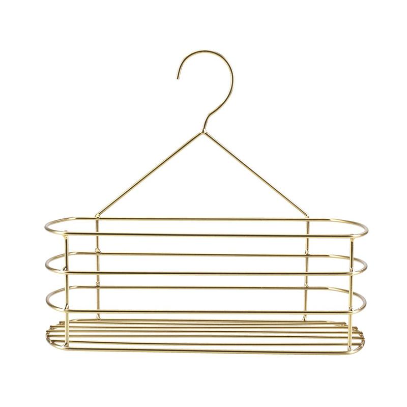 Raft pentru baie, 30 x 12 x 27 cm, metal, Auriu 2021 shopu.ro