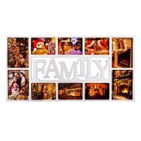 Rama foto multipla, 37 x 72 cm, mesaj Family