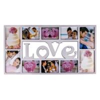 Rama foto multipla, 37 x 72 cm, mesaj Love