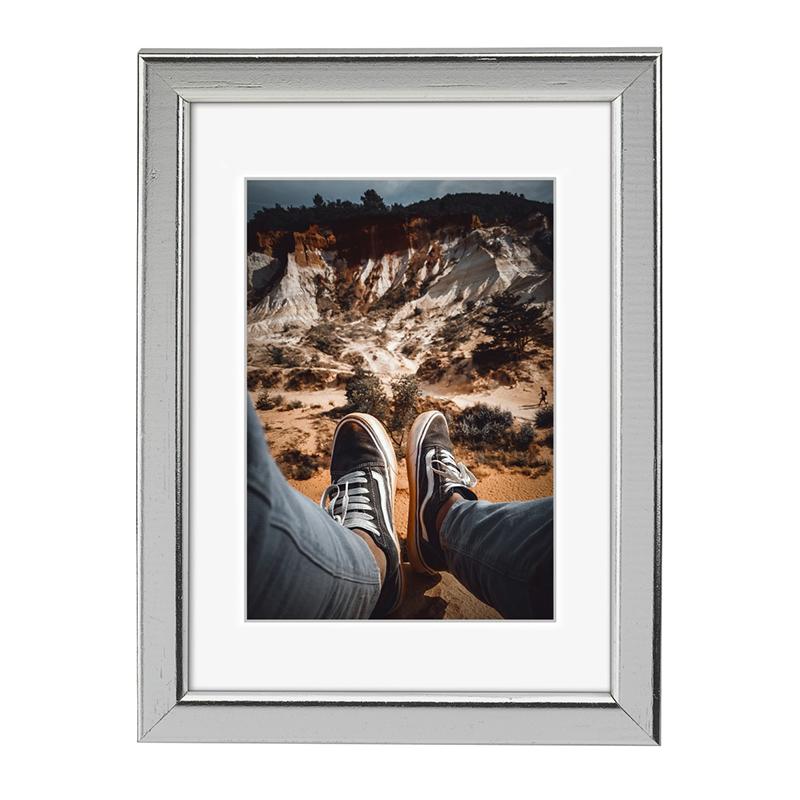 Rama foto Bella Hama, 13 x 18 cm, lemn, Gri 2021 shopu.ro