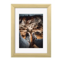 Rama foto Bella Hama, 13 x 18 cm, lemn, Bej