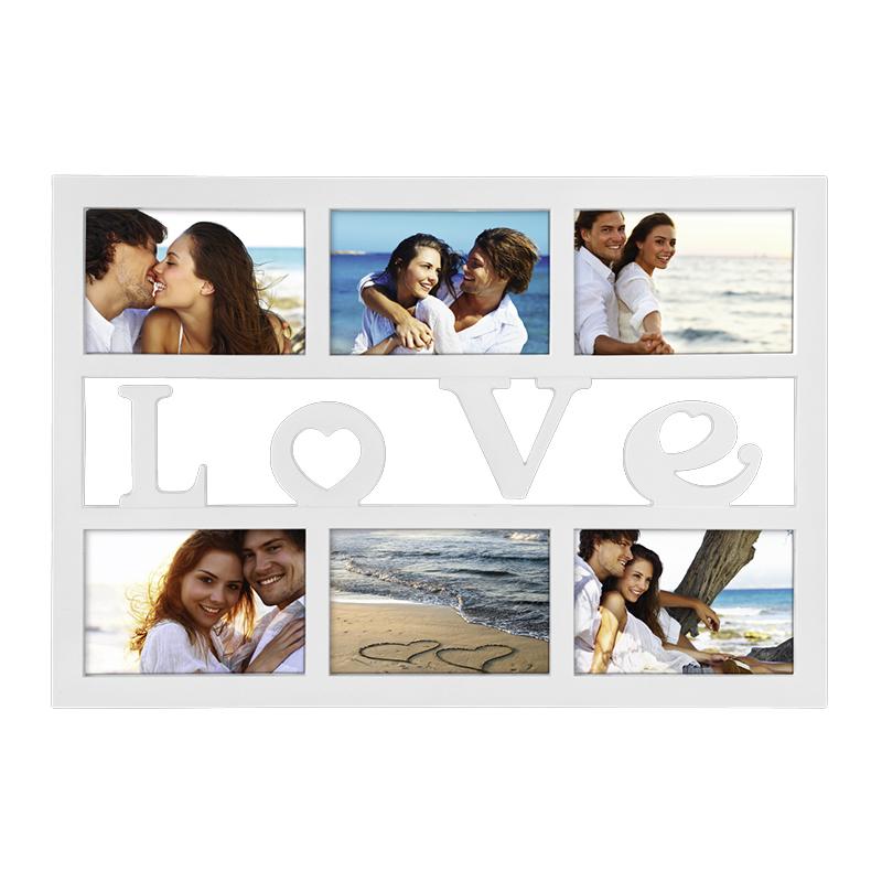 Rama foto Budapest Love Hama, 10 x 15 cm, plastic, 6 imagini, Alb 2021 shopu.ro