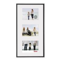 Rama foto Madrid Hama, 25 x 55 cm, plastic, 3 fotografii, Negru