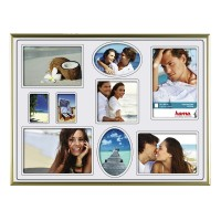 Rama foto Madrid Hama, 30 x 40 cm, plastic, 9 fotografii, Auriu