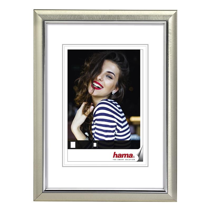 Rama foto Saragossa Hama, 13 x 18 cm, plastic, Argintiu 2021 shopu.ro