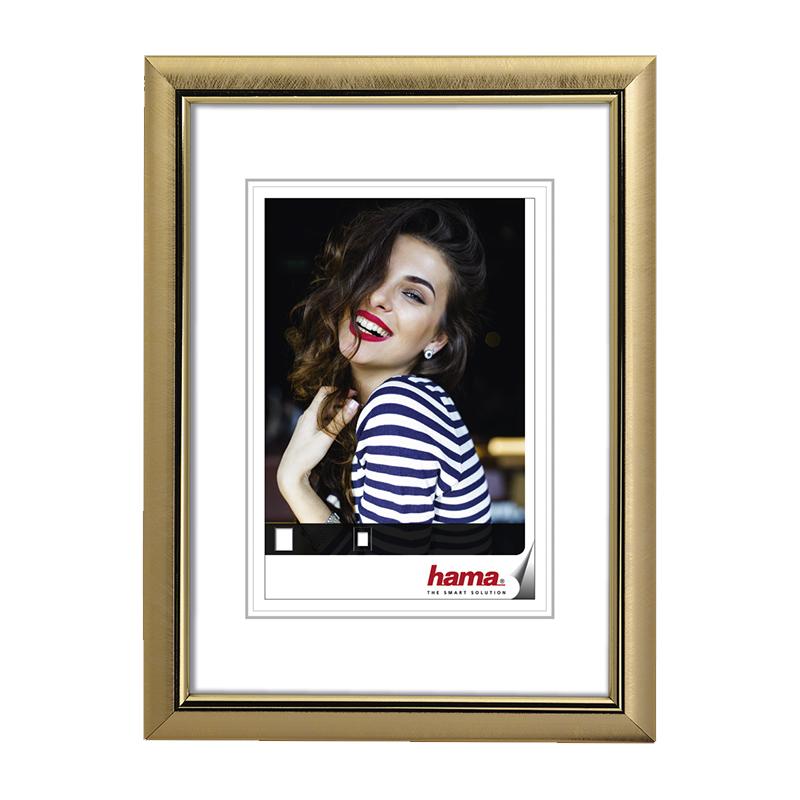 Rama foto Saragossa Hama, 13 x 18 cm, plastic, Auriu 2021 shopu.ro