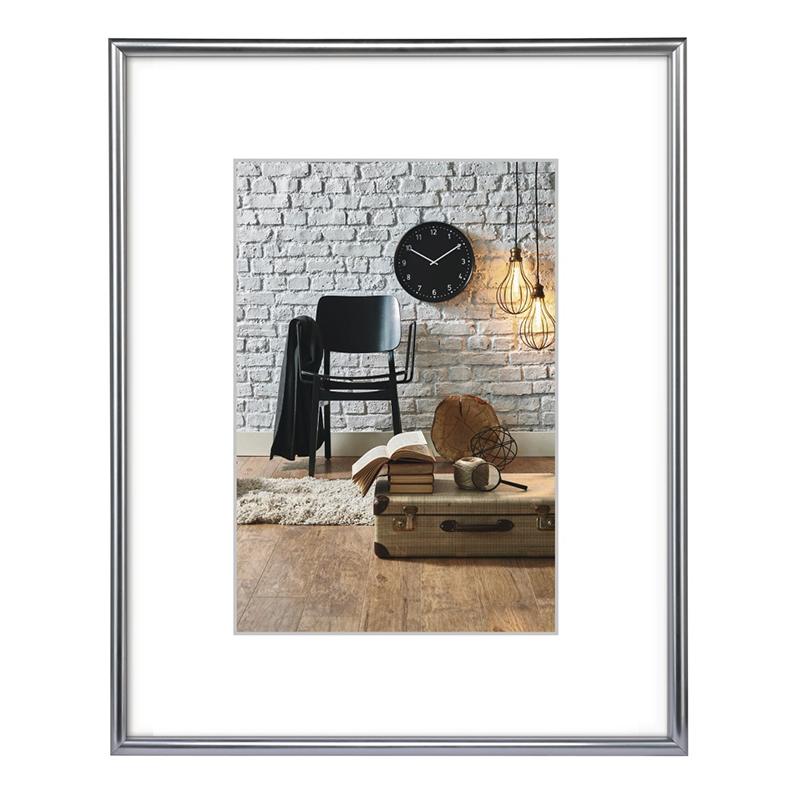 Rama foto Sevilla Decor Hama, 21 x 29.7 cm, DIN A4, plastic, Argintiu 2021 shopu.ro