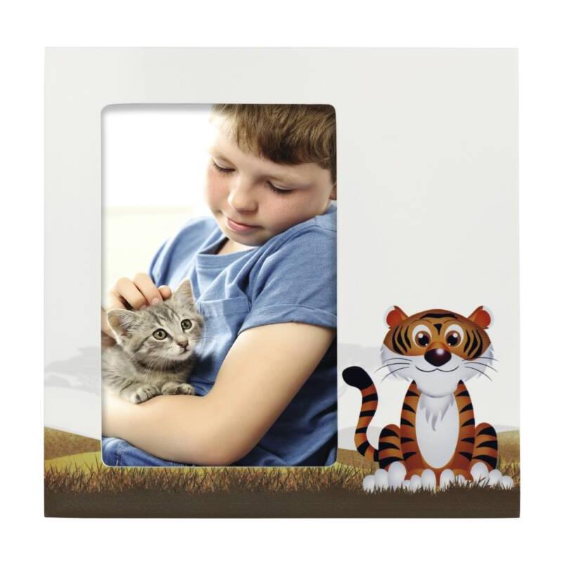 Rama foto Tiger Liam Hama, 10 x 15 cm, MDF, Alb 2021 shopu.ro