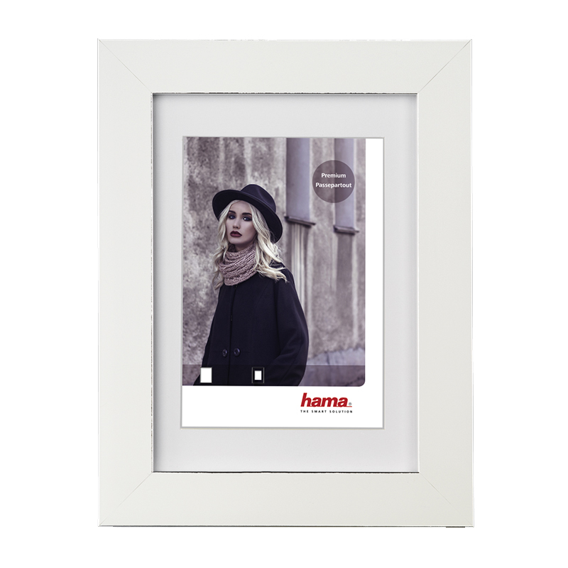 Rama foto Valentina Hama, 10 x 15 cm, plastic, Alb shopu.ro