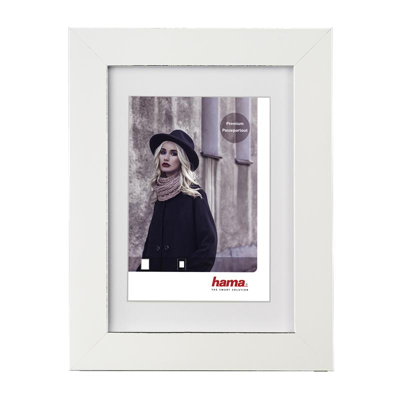 Rama foto Valentina Hama, 13 x 18 cm, plastic, Alb 2021 shopu.ro