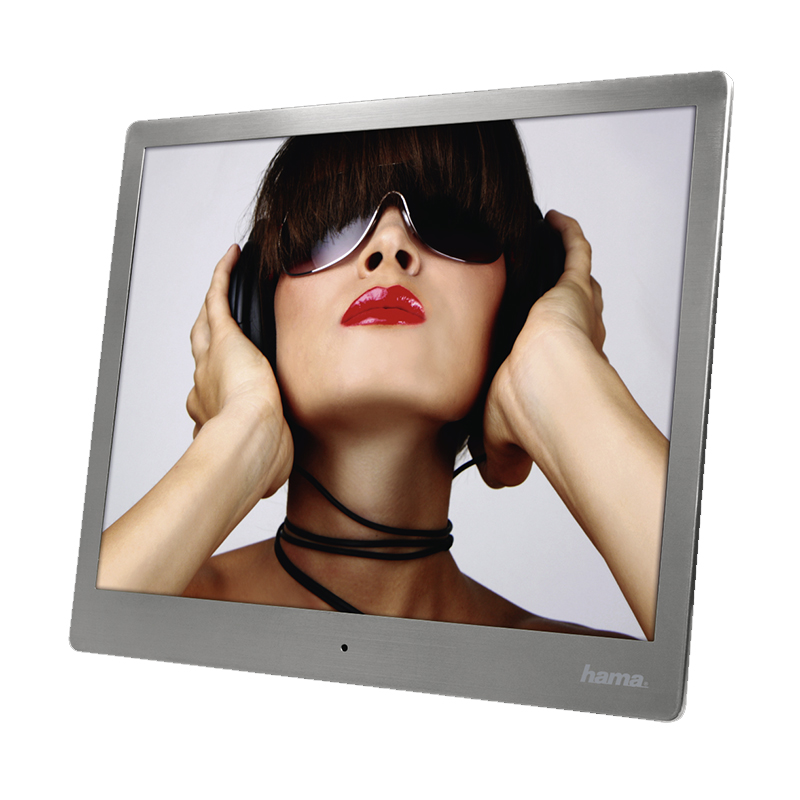 Rama foto digitala Hama, 24.64 cm, 1024 x 768 px, otel inoxidabil, Argintiu 2021 shopu.ro