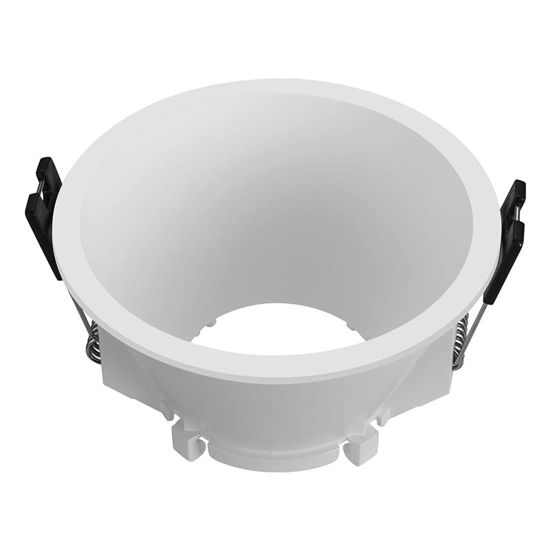 Rama rotunda pentru spot Well, GU10/MR16, 93 x 53 mm, policarbonat, Alb shopu.ro