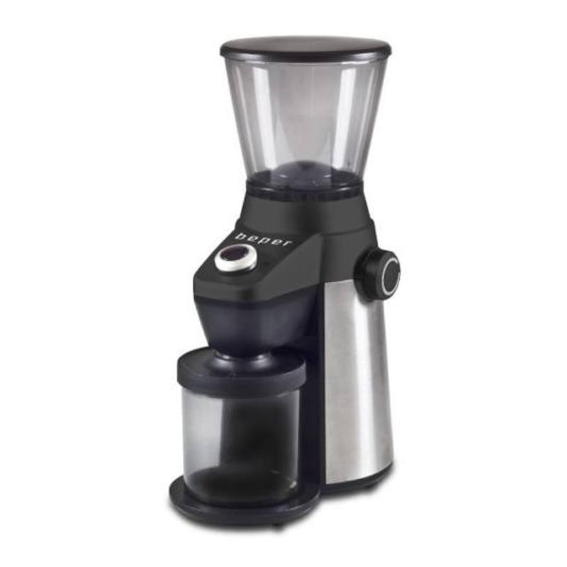 Rasnita electrica pentru cafea Beper, 150 W, 600 ml, 15 nivele macinare, Negru 2021 shopu.ro