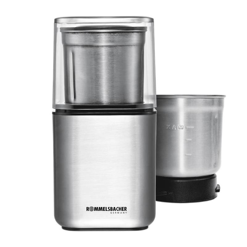 Rasnita pentru cafea si condimente Rommelsbacher, 200 W, lame otel inoxidabil 2021 shopu.ro