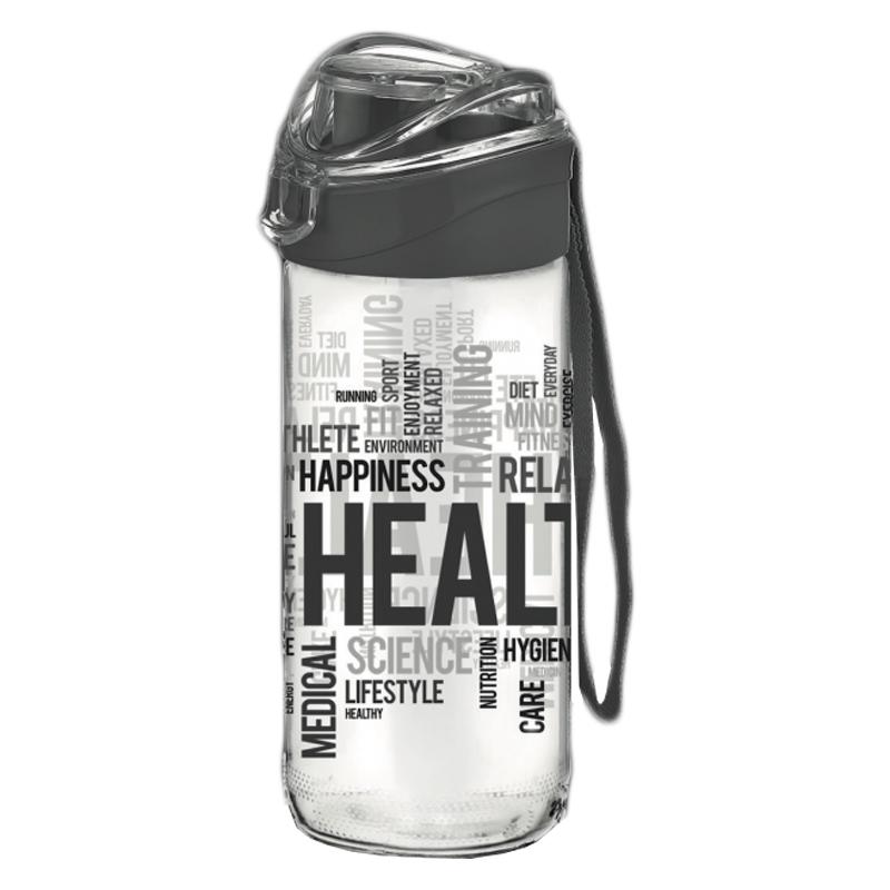 Recipient sticla pentru apa Renga, 500 ml, Negru 2021 shopu.ro
