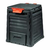 Recipient compost Eco, 320 l, plastic, Negru