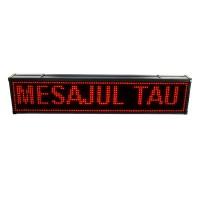 Reclama luminoasa de exterior, 200 x 40 cm, LED, text personalizat, senzor temperatura, Rosu